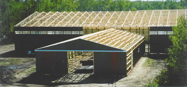 T Layout of custom shed