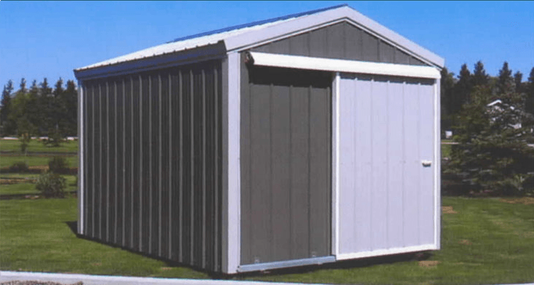 An example of our steel storage shed solution!